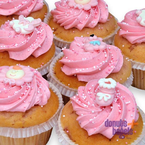 Babyshower cupcakes roze