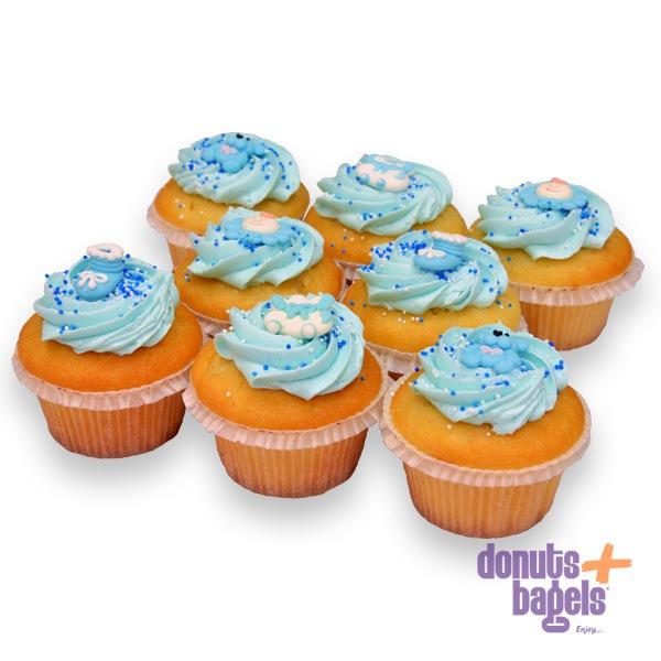 Babyshower cupcakes blauw