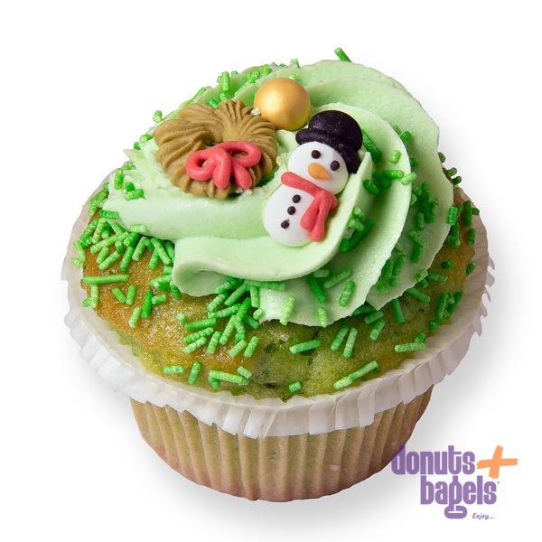 Kerst cupcakes sneeuwpop