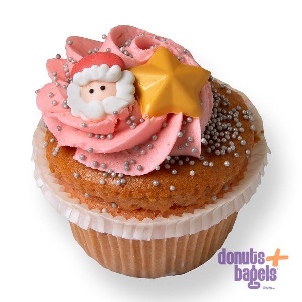 Kerst cupcakes Kerstman