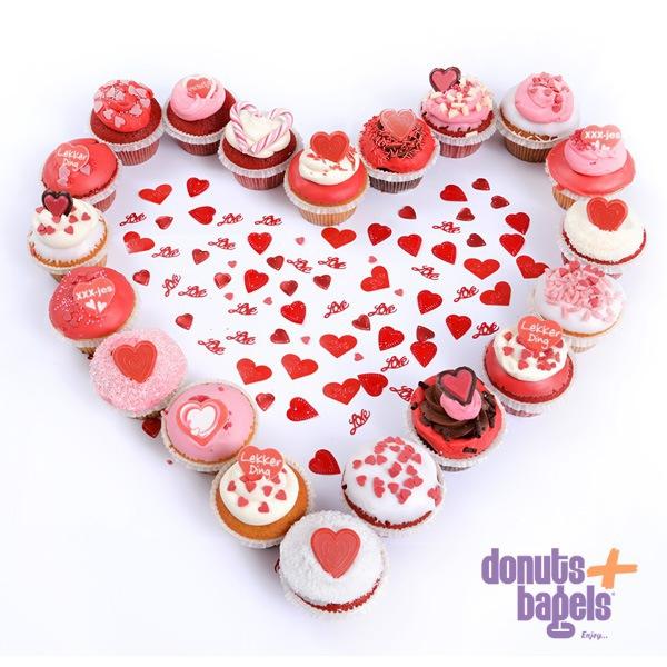 Valentijn cupcakes hart