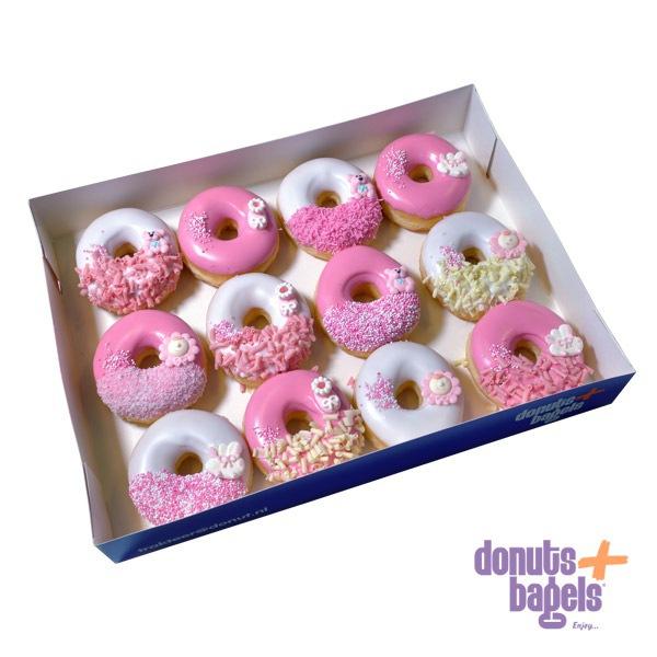 Doos babyshower donuts roze