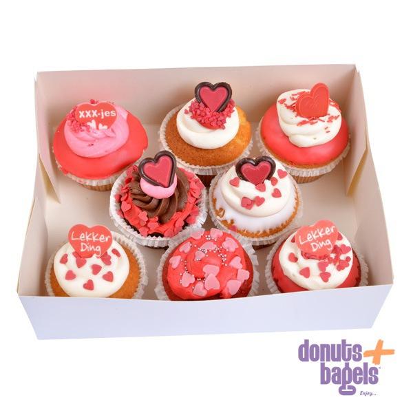 Doos Valentijn cupcakes
