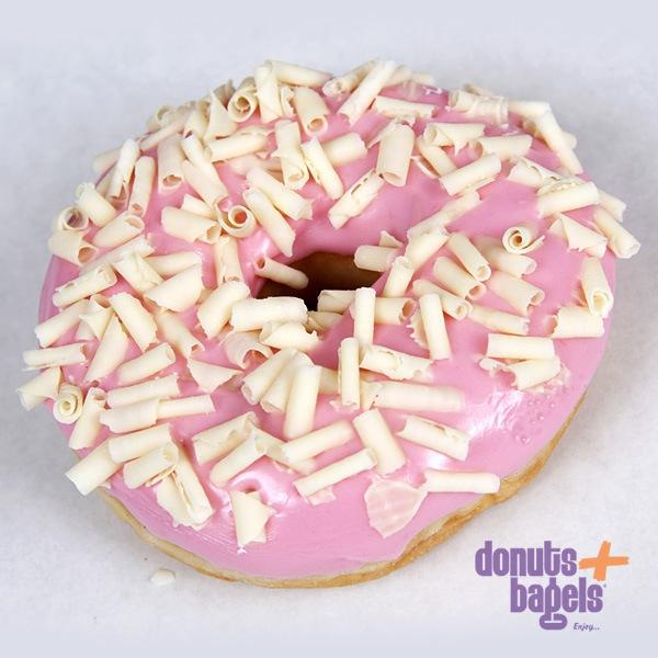 Surprise donuts roze met vlokken