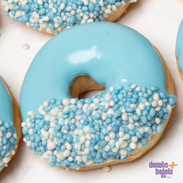 Geboorte donuts blauw