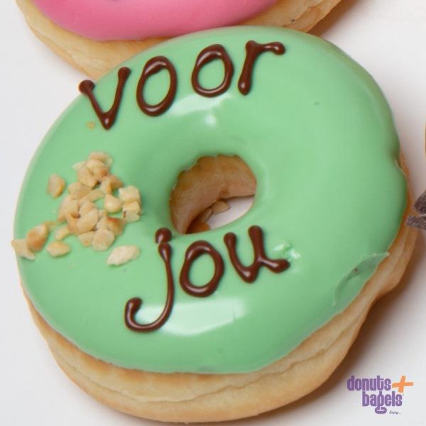 Tekst donuts voor jou