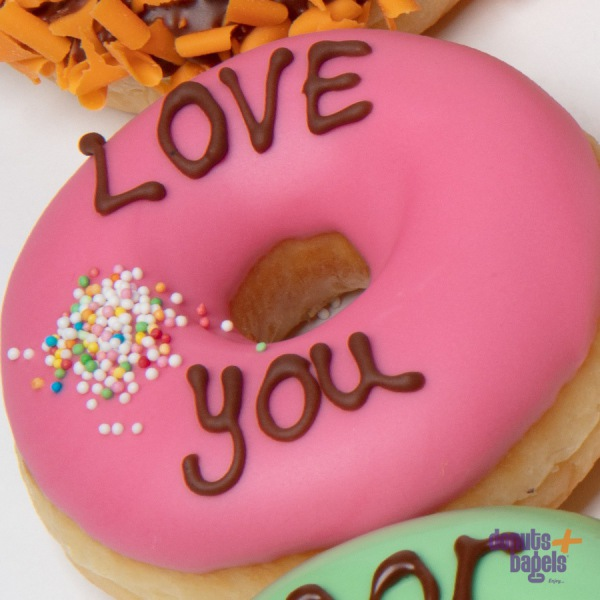 Tekst donuts love you