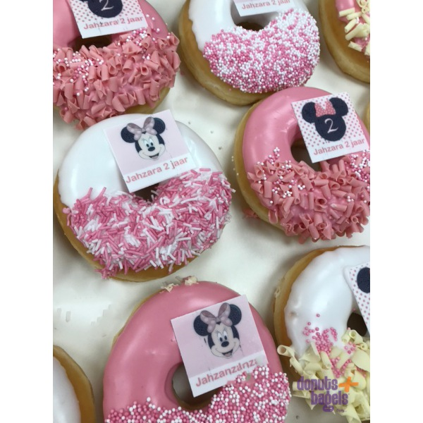Feest en thema donuts Micky Mouse