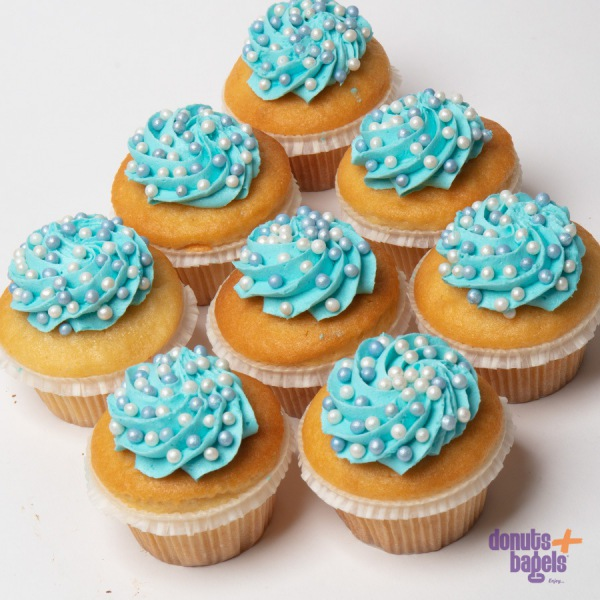 Cupcakes met Parels blauw