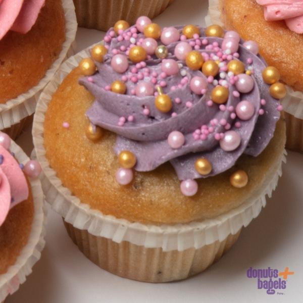 Cupcakes met Parels paars