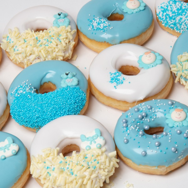 Babyshower Donuts blauw