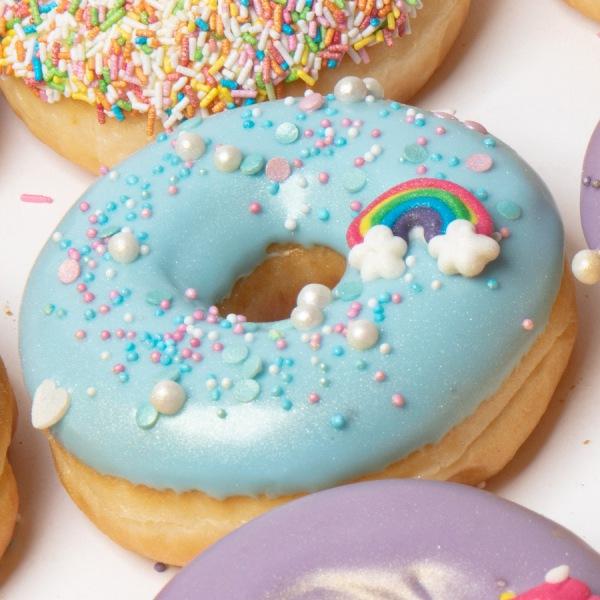 Zoete donuts regenboog