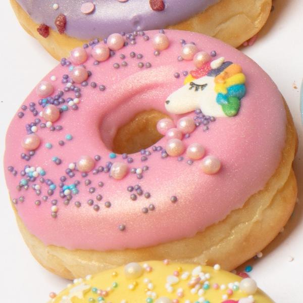 Unicorn donut roze