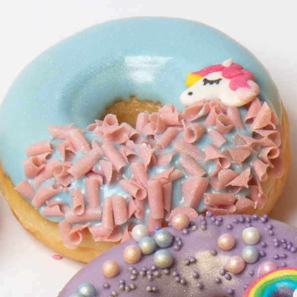 Unicorn donut blauw
