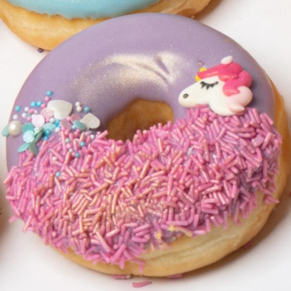 Unicorn donut paars