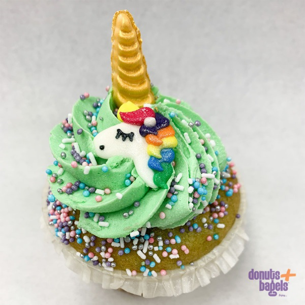 Unicorn cupcake groen