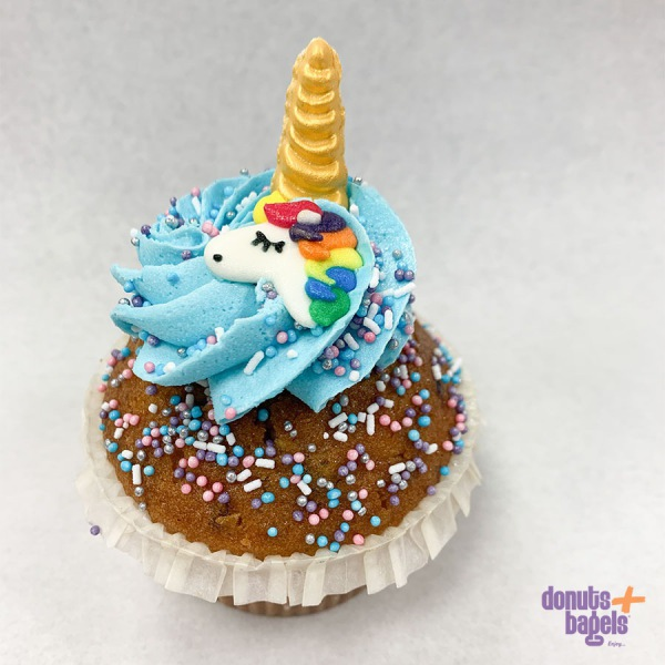 Unicorn cupcake blauw