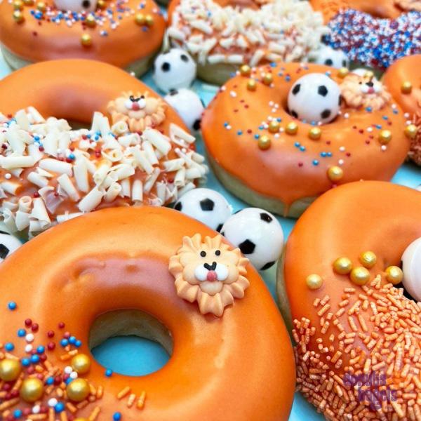 WK oranje donuts