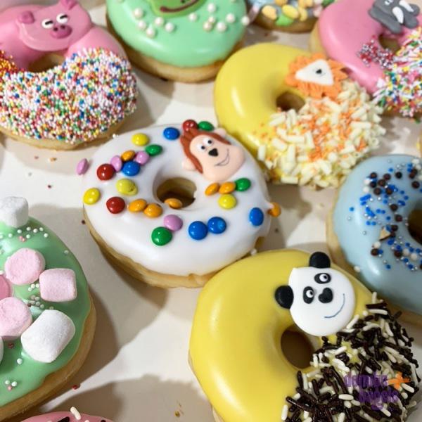 Dieren thema donuts